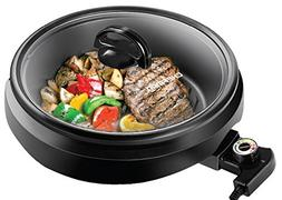 Chefman 3-IN-1 Electric Indoor Grill Pot & Skillet, Versatil