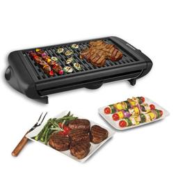 Excelvan 1120W Smokeless Electric Grill Griddle Non Stick Ta
