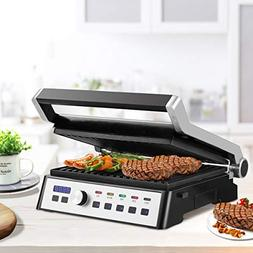 120V/60HZ 1500W Electric Grill LCD Touch Display&Removable P