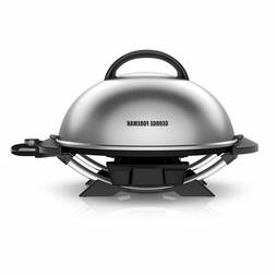 George Foreman 15-Serving Indoor/Outdoor Electric Grill, Sil