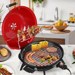 """1600W 18"""" Electric Non-Stick Grill Griddle BBQ Barbecue Plat"""