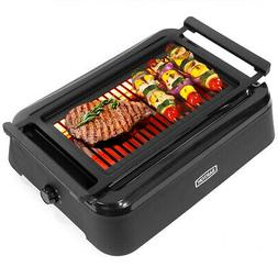 1650W Smokeless Indoor BBQ Grill with Advanced Infrared Tech