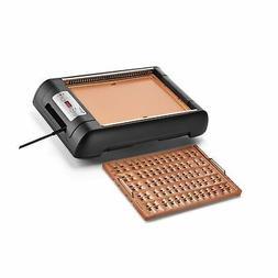 Magic Mill 2 in 1 Electric Smokeless Grill and Griddle Pan f