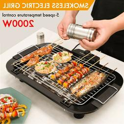 2000W Table Electric Grill Indoor BBQ Barbecue Grill Smokele