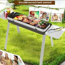 New Smokeless Fold Barbecue Charcoal Grill Stove Shish Kebab