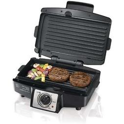 Electric Contact Grills Smokeless Indoor With Non Stick Rem