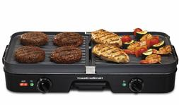 3 in 1 Electric Indoor Grill Smokeless Griddle Combo Barbecu