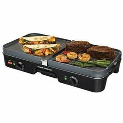 Hamilton Beach 3-in-1 Grill/Griddle Smokeless Indoor Combo M