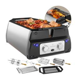ChefWave 5 in 1 Smokeless Indoor Electric Grill & Rotisserie
