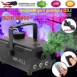 500w wireless fog smoke machine rgb color