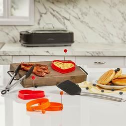Power Smokeless Grill 6-Piece Breakfast Accessory Set, Tongs