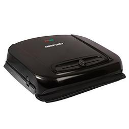 George Foreman Grill with Removable Plates, Black