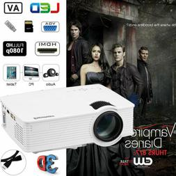 7000 Lumens LED Video Projector Full HD 1080P Multimedia 3D