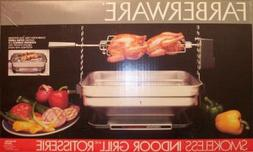Vintage Faberware Rotisserie Grill Indoor Hearth Broiler INC