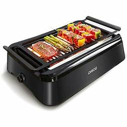 Advanced Contact Grills Smokeless Indoor Grill, Portable Ele