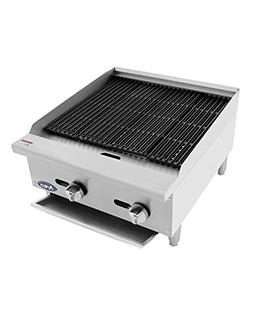 ATCB-24 Stainless Lava Rock Charbroiler Grill Char-Rock Broi