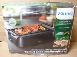 Philips Avance 1660W Smokeless Infrared Indoor Grill - Black