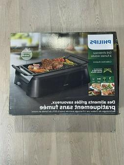 Philips Avance Collection Indoor Smoke-Less Grill, Black - H