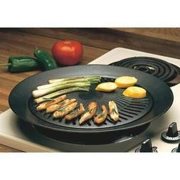Black Smokeless Indoor Stovetop Barbecue Grill Black