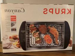 KRUPS CANYON SMOKELESS PORTABLE INDOOR GRILL 1500 WATTS MADE