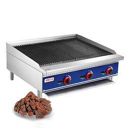 Kitma Commercial Countertop Lava Rock Charbroiler 36 Inches