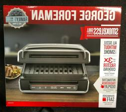 GEORGE FOREMAN Contact Smokeless Ready Grill Kitchen Family