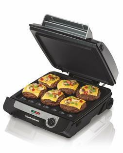 Grill Cooker Electric Multi Griddle Combo Indoor Home Smokel