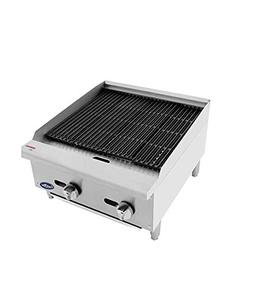CookRite ATCB-24 Lava Rock Commercial Charbroiler Grill Smok