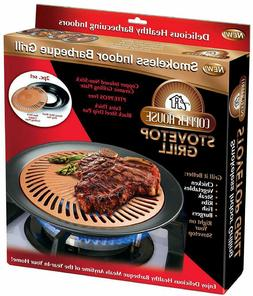 Copper House Stovetop Grill Smokeless Indoor BBQ Grill As Se