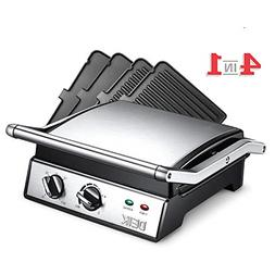 DEIK Electric Contact Grill Griddle, 1800W 6-in-1 Smokeless
