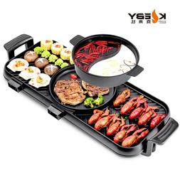 Electric Flat Griddle Barbecue Furnace <font><b>Smokeless</b