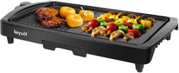 Kuyal Electric Griddle 2-in-1 Indoor Grill Smokeless Coated