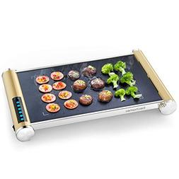900W Electric Grill Griddle with LED Touch Control - Glass C