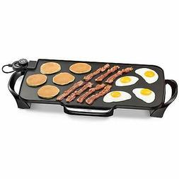 electric griddle nonstick smokeless portable indoor flat