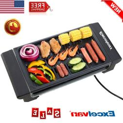 Electric Griddle Grill Indoor Kitchen Smokeless Barbecue BBQ