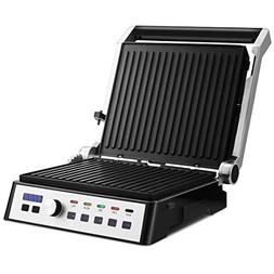 Costway Electric Grill 1500W Smokeless Indoor Grill with Adj