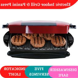 Electric Indoor Grill and Panini Maker Press Nonstick Smokel
