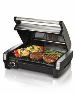 Electric Indoor Searing Grill with Removable Plates and Less