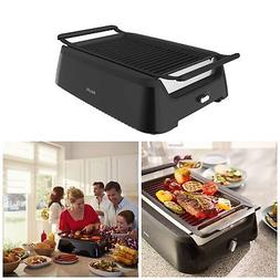 Electric Indoor Smoke-Less Grill Plus Bonus Cleaning Tool In