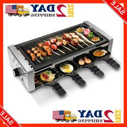 Electric Raclette Grill Outdoor Indoor Smokeless Removable E