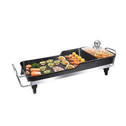 Electric skillet, electric grill, electric indoor smokeless