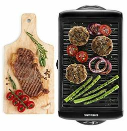 Electric Smokeless Contact Grills Indoor - XL Griddle W/ Non