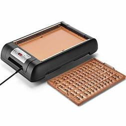 Magic-Mill Electric Smokeless Grill and Griddle Pan for Indo