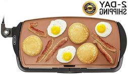 Electric Table Top Griddle Flat Grill Indoor Small Portable