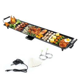 Electric Teppanyaki Table Top Grill Griddle BBQ Barbecue Non