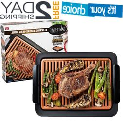 Gotham Smokeless Electric Grill with Nonstick ceramic Surfac