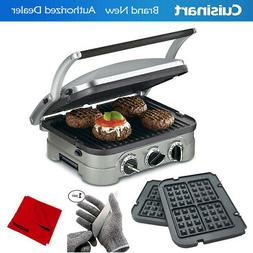 Cuisinart GR-4NW Griddler w/ Waffle Plates, Grill & Panini P