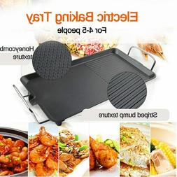 Grill Electric Indoor Non Stick Bbq Griddle Panini Smokeless