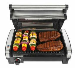 Hamilton Beach Searing Grill with Lid Viewing Window Top Qua