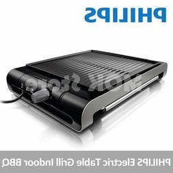 hd4417 compact electric table grill ribbed plate